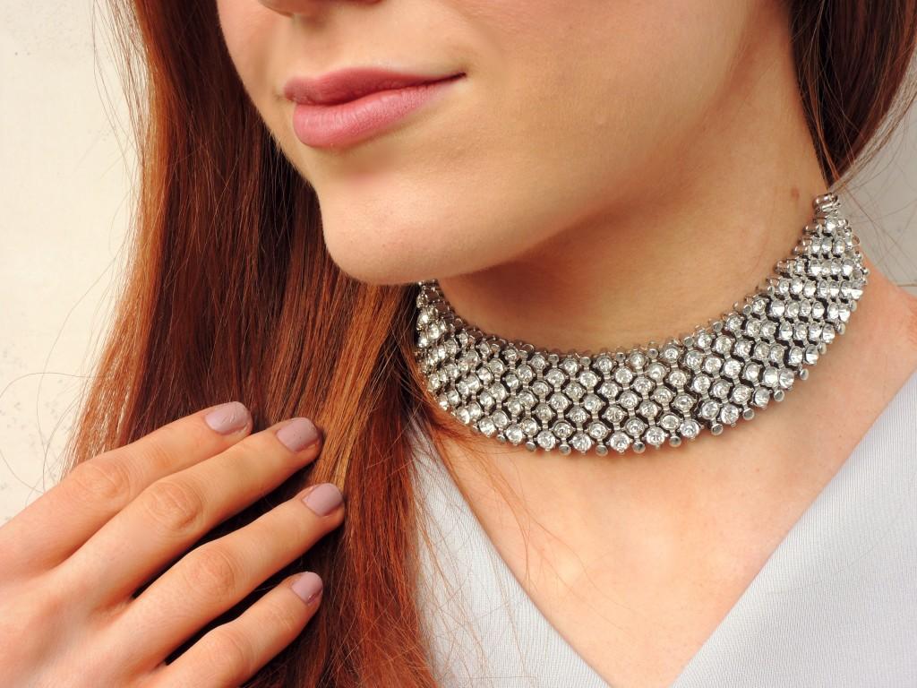 Topshop Diamond Choker - Kathryn's Katwalk