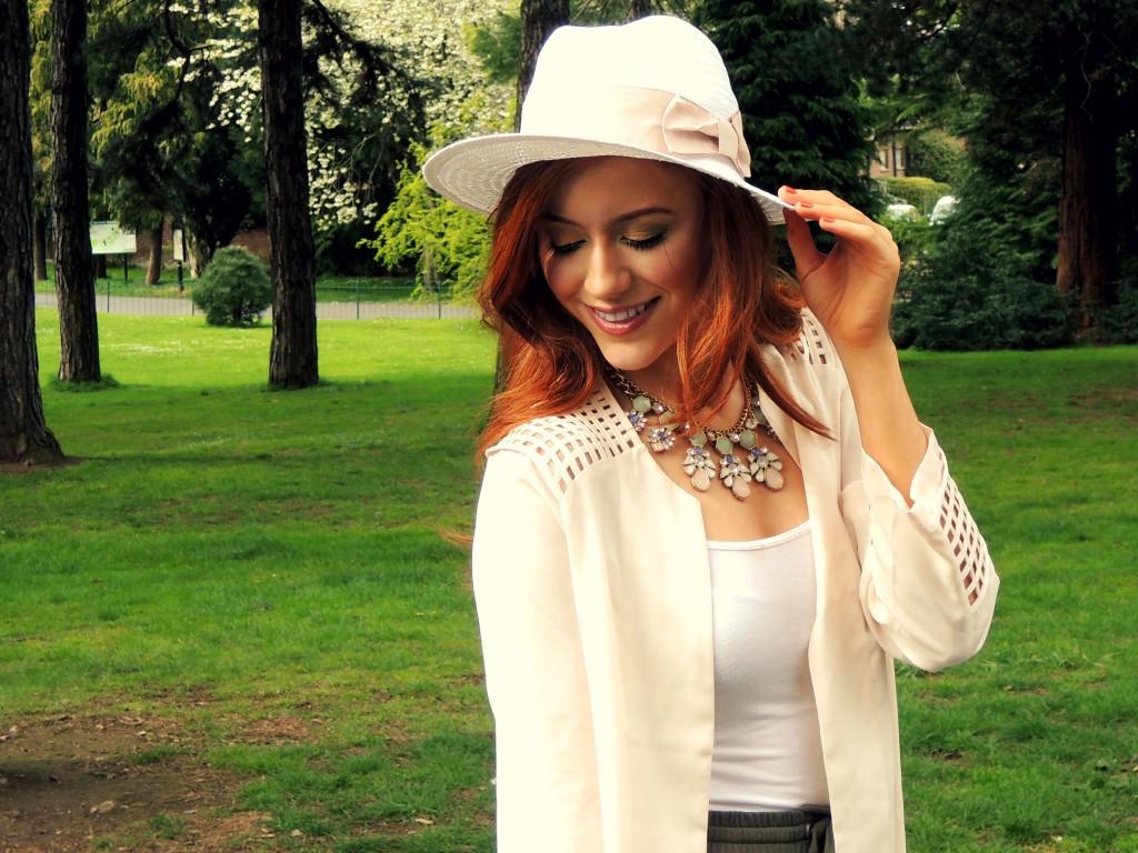 kathryn o brien - kathryns katwalk - primark necklace - h&m straw hat