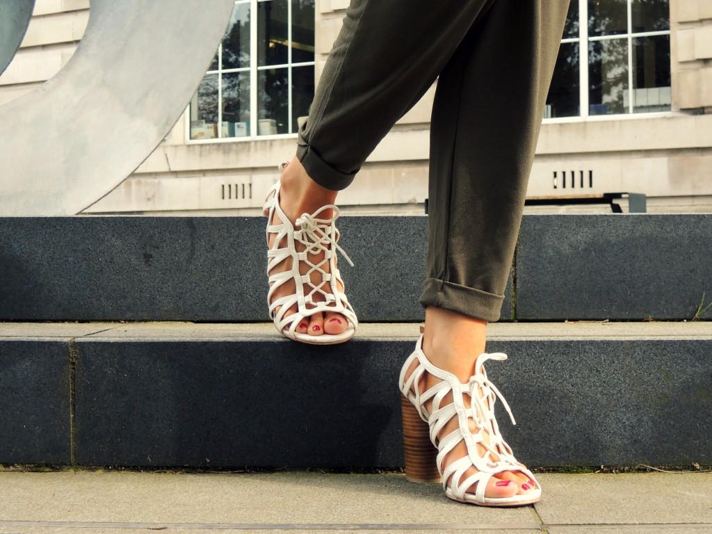 primark white laced sandals - kathryns katwalk