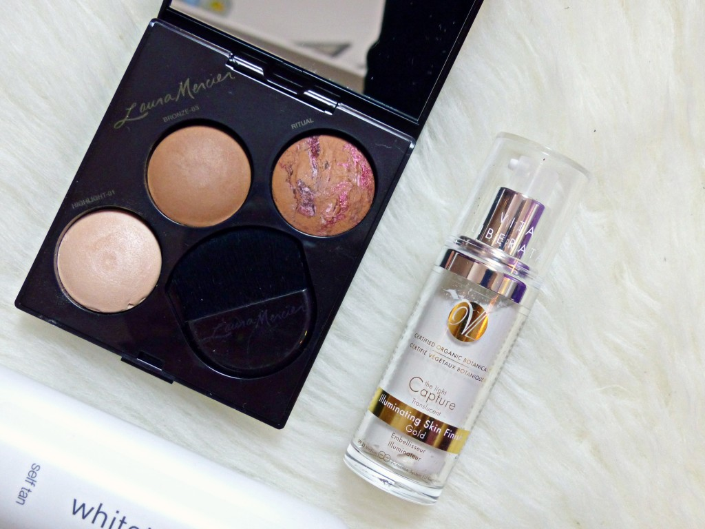 Laura mercier blush & glow radiant face trio - Vita liberata illuminating skin finish gold