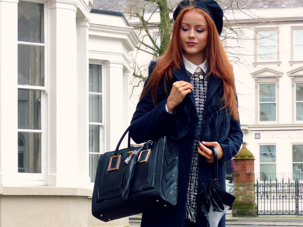 topshop coat river island bag