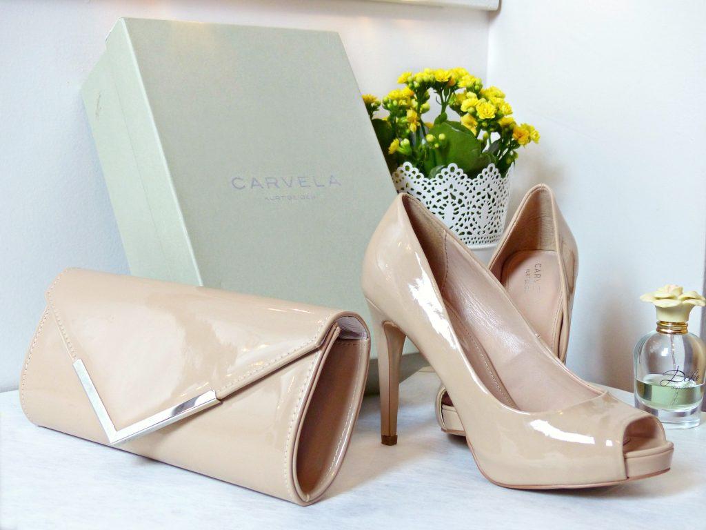 carvela kurt geiger nude heels with clutch nag