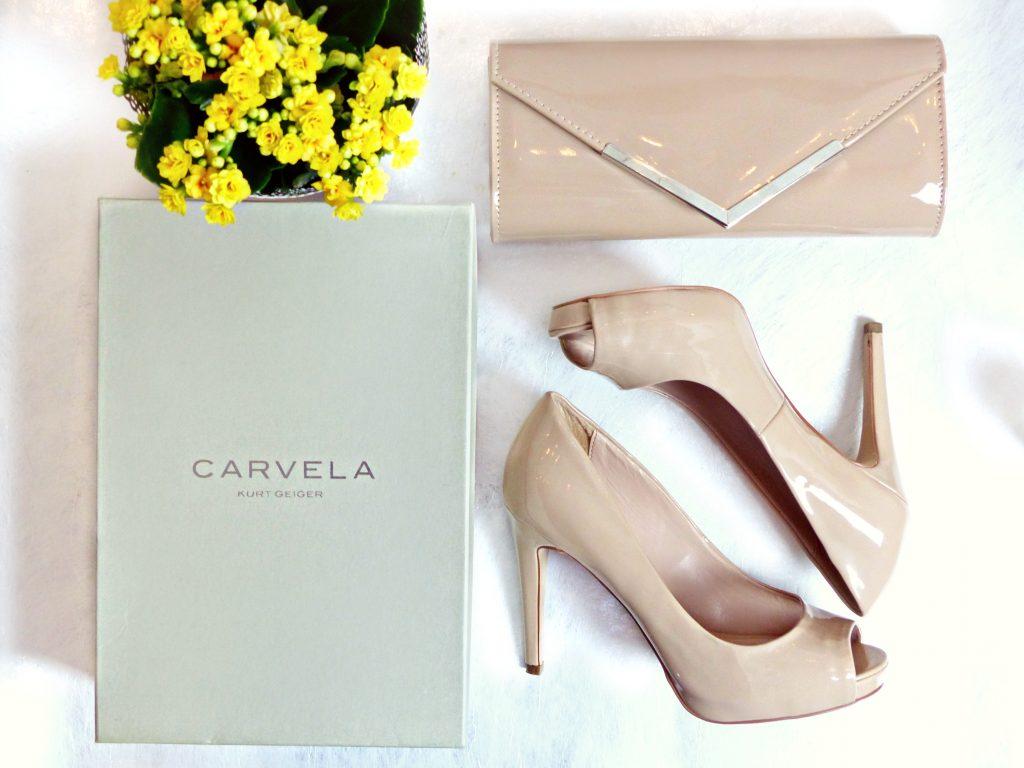 kurt geiger carvela nude shoes and bag