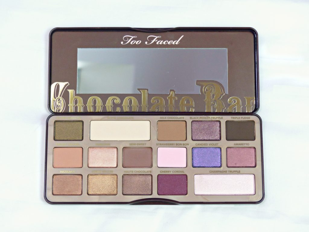 too faced choclate bar palette - eyeshadow colours