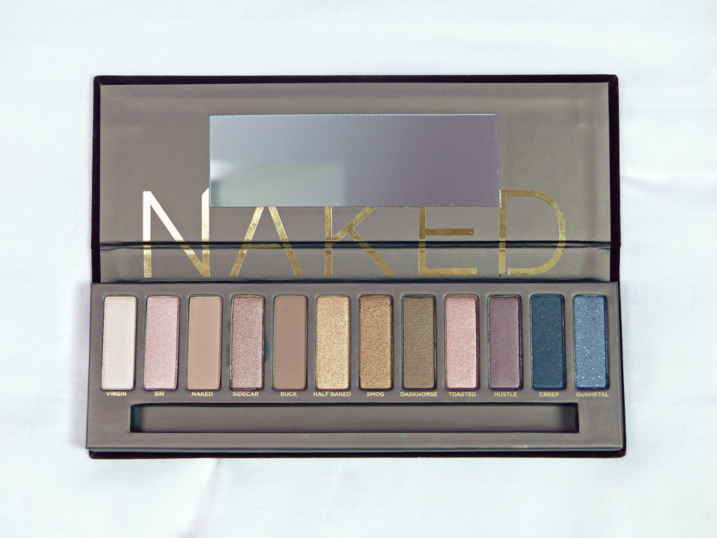 urban decay naked palette - eyeshadow colours